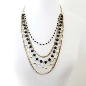 Coldwater Creek Multi Chain Layered Necklace